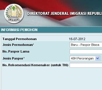 pembuatan paspor online imigrasi tangerang cara membuat paspor online travel singapura wisata