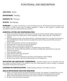 welder job description 10 free word pdf documents