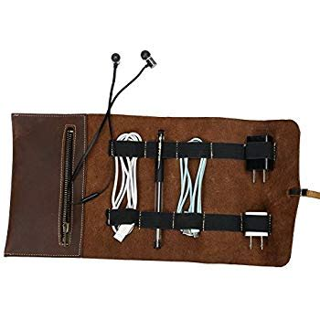 Cover Organizer Small Brown dwellbee travel electronic accessories and