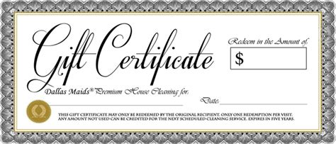 printable gift certificates for services 5 free gift certificate templates certificate templates