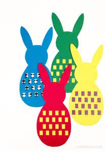Paper Weaving Template by Mollymoocrafts Easter Bunny Paper Weaving