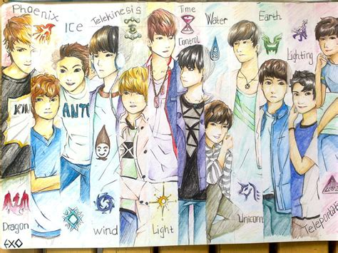 exo anime exo anime by mabek92 on deviantart