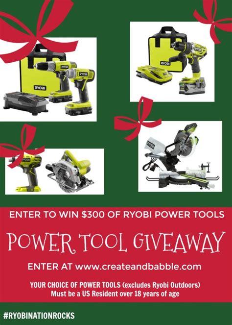 Power Tool Giveaway - diy christmas coat rack plus ryobi power tool giveaway