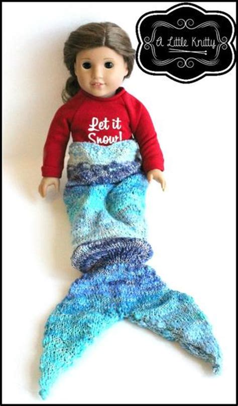 knitty mermaid tail blanket doll clothes knitting
