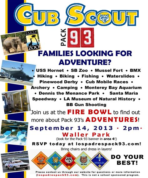 Scout Recruitment Flyer cub scout recruiting flyer cub scout pack 360
