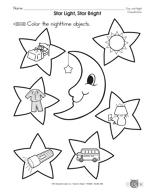 day and night coloring page for kindergarten results for all products science kindergarten