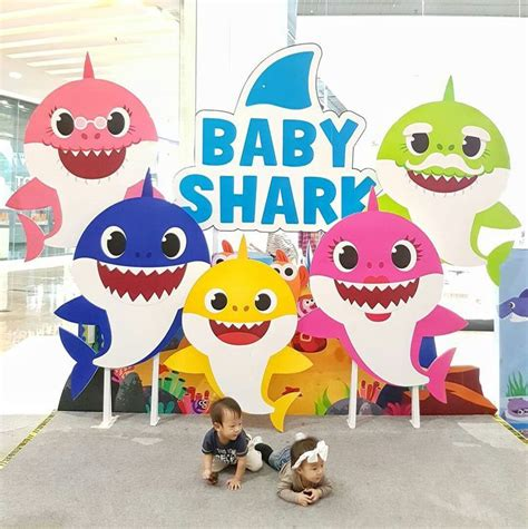 pin  chariehil cpds  birthday shark theme   baby shark song shark party baby shark