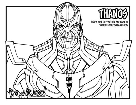 marvel infinity coloring pages thanos marvel cinematic universe draw it too