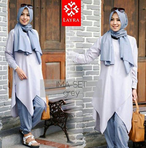 Stelan Blouse Pink Set 2in1 Celana Hitam menjadi reseller baju muslim gaun pesta muslim pusat