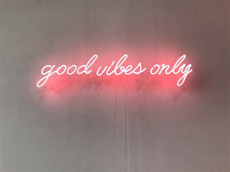 light words for wall vibes only neon sign handmade visual artwork