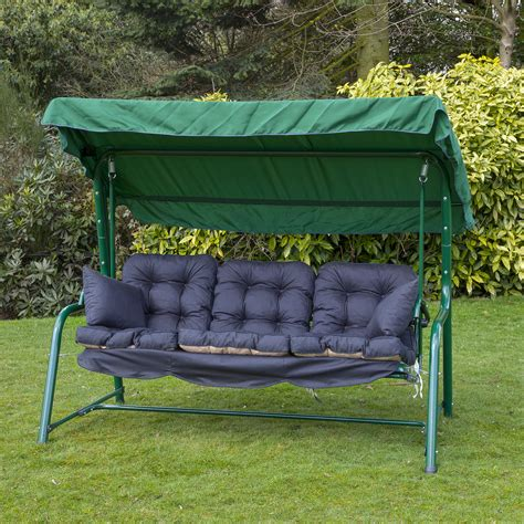 patio swing cushion replacement garden 3 seater replacement swing seat hammock cushion set