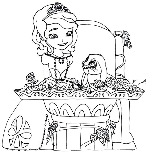 Sofia The First Coloring Pages To Print Coloring Pages Sofia The