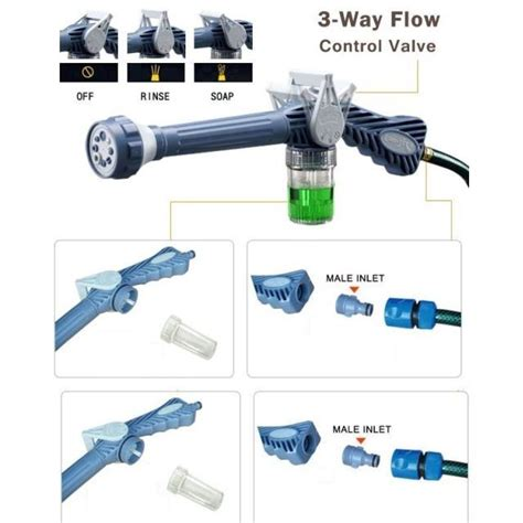 Ez Jet Water Cannon Surabaya ez jet water cannon 8 in 1 water spray penyemprot air