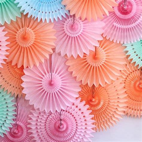 How To Make Paper Decorations At Home by Aliexpress Buy Different Size Tissue Paper Fans