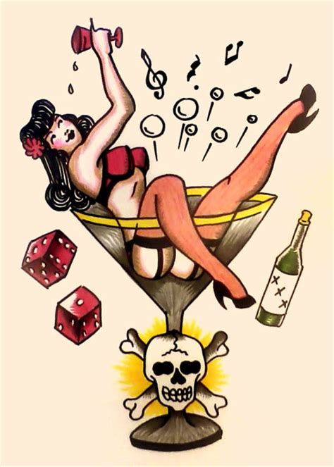 sailor jerry style man s ruin by s hirsack on deviantart