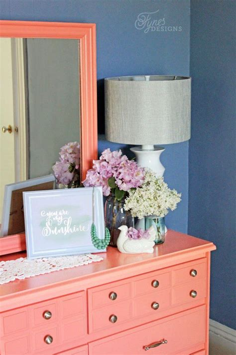 78 best ideas about coral painted dressers on coral painted furniture coral