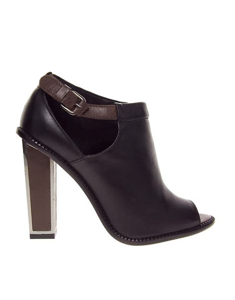 mango mango cut out heeled ankle boots at asos