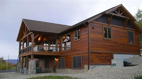 live edge siding maine mountain home newry maine contractor and home builder