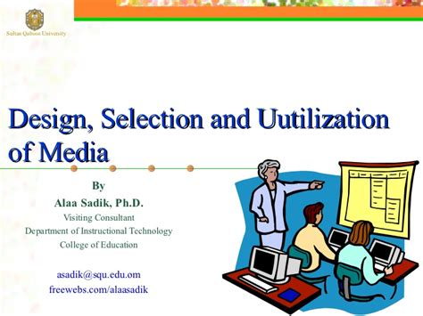 Learning And Performance Consultant At Sheryl Waxler Ph D Mba by Design Selection And Utilization Of Media