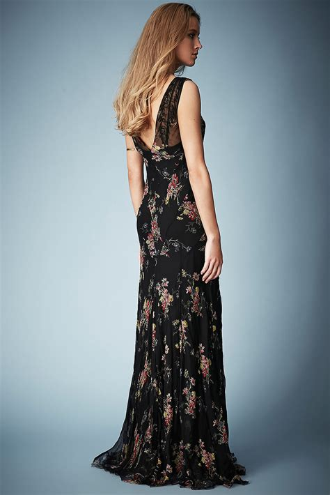Kate Moss For Topshop Closer Look Floral Dress by Lyst Topshop Floral Chiffon Maxi Dress By Kate Moss For