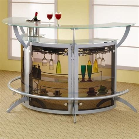 coaster 100135 silver glass bar unit a sofa