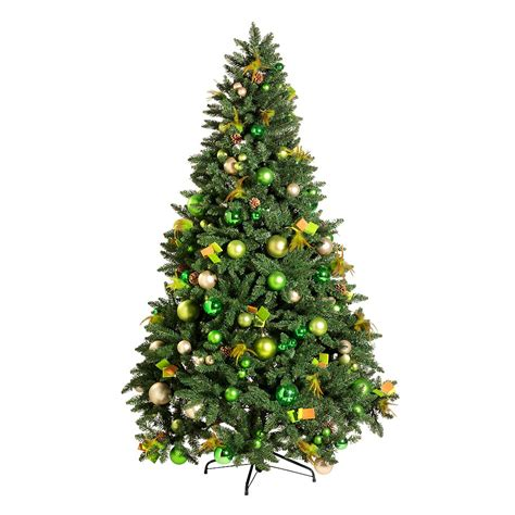 themen dekoration weihnachtsbaum gr 252 n gold geschm 252 ckt