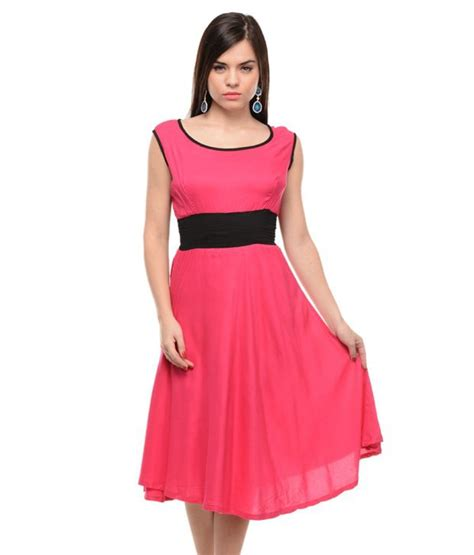 Dress Rayon 2 buy lingra pink rayon dresses at best prices in