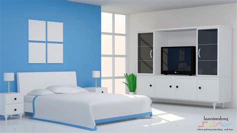 wallpaper dinding kamar tidur warna biru wallpaper
