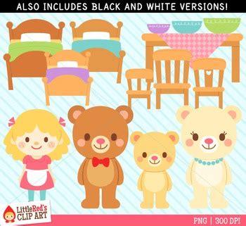Goldilocks Three Bears Clipart
