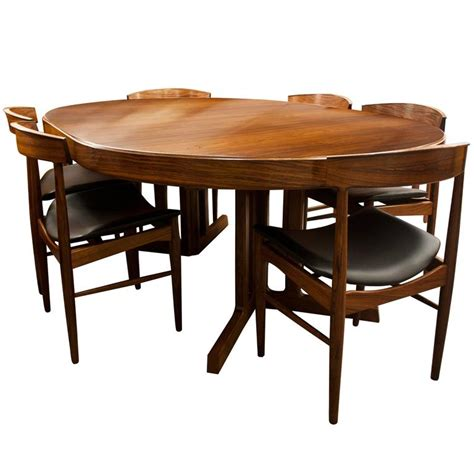 rosewood dining room furniture mid century modern design rosewood dining table and six