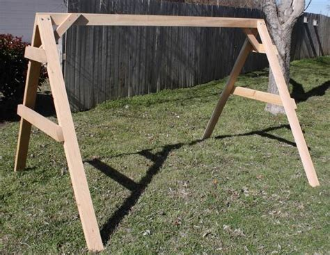 swing support frame new all cedar short a frame for porch swing stand support