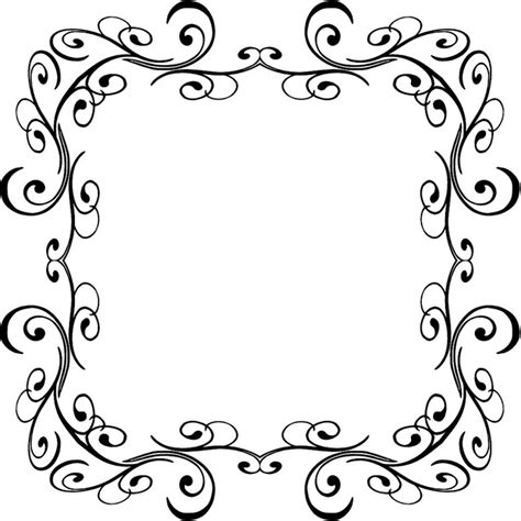 frame design bg swirl comp 19 calligraphy border design and clip art