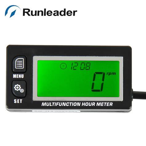 2 In 1 Tachometer Rpm Voltmeter Non Frame Digital 8 17v Motor Mobil green lcd inductive battery replaceable volt meter