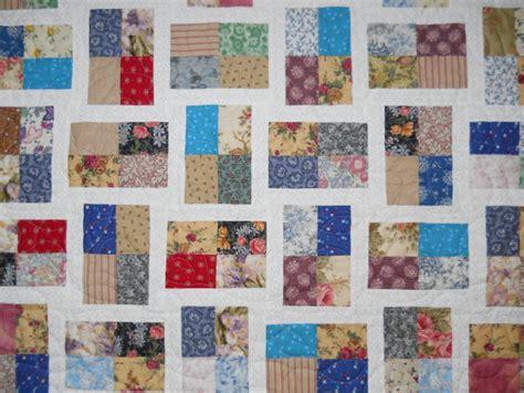 brick wall quilt