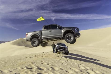 ford raptor jump ken block tests the power of the almighty raptor