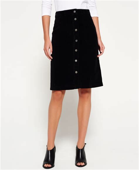 superdry a line midi cord skirt s skirts