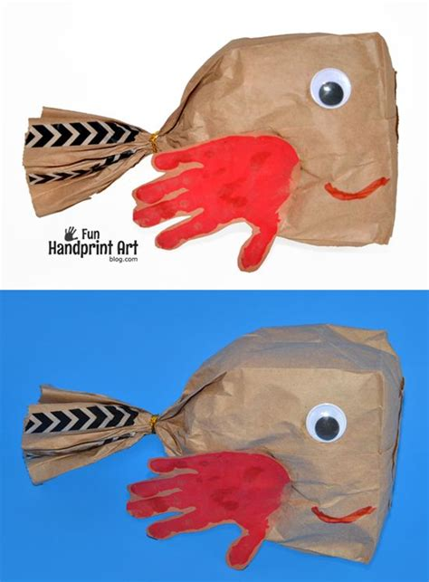 Paper Bag Fish Craft - paper bags paper bag crafts and fish crafts on