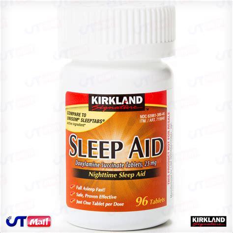 sleep aid new kirkland sleep aid nighttime 96 tablets doxylamine