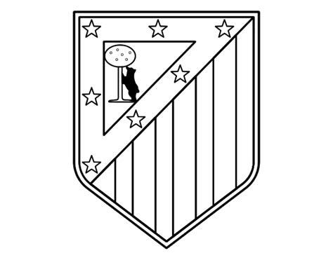 escudo del madrid para colorear az dibujos para colorear dibujo de escudo del club atl 233 tico de madrid para colorear