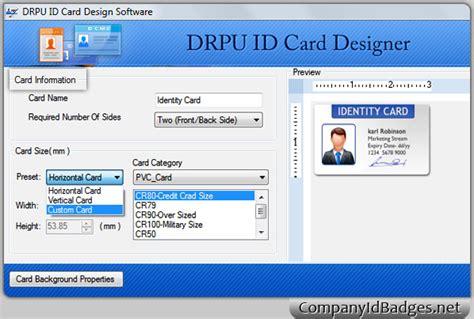 id card design software for mac screenshots of id card designer software to make