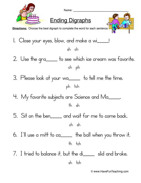 Digraph Worksheet by Ch Blend Worksheets For Kindergarten Phonics Consonant