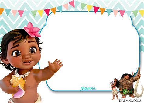 moana card template free moana birthday invitation template free invitation