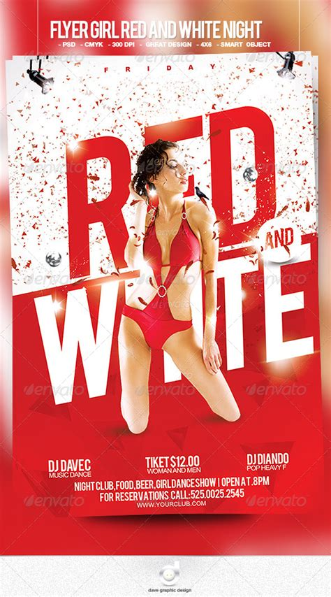 flyer red and white night graphicriver