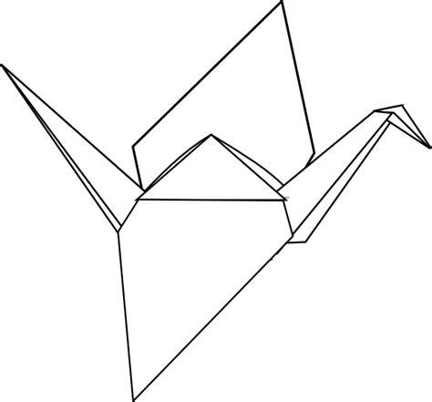 Origami Crane Outline - white crane clip at clker vector clip