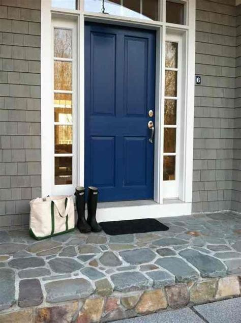 front door blue front door gray house nautical blue door doors