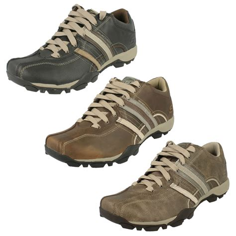 Skechers Mens Shoes by Mens Skechers Casual Leather Shoes Tread Refresh Ebay