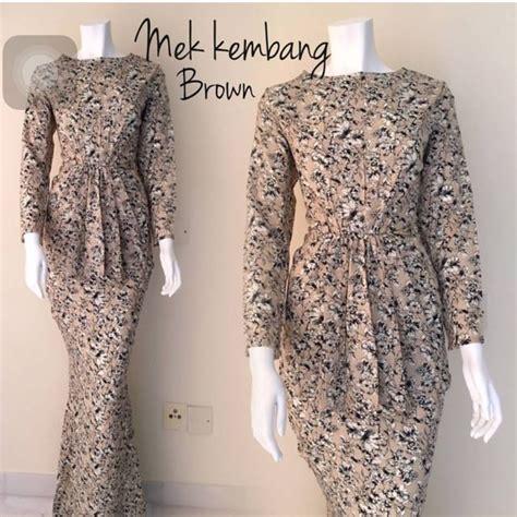 gambar baju kurung moden baju kurung moden mek kembang cotton muslimah fashion on