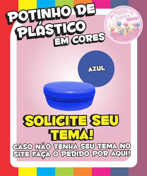 Plastik Segel 8 5 Cm By Nomi Mino potinho de pl 225 stico em cores azul magia criativa