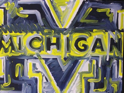 patten university course catalog michigan wolverines painting by justin patten home