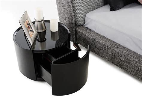 modrest orca modern  drawer  dark oak glass top
